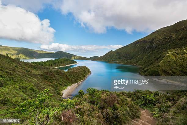 Amazing landscape of Lagoa do Fogo in Azores