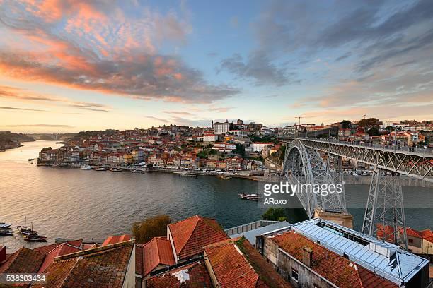 Amazing landscape of Porto at sunset
