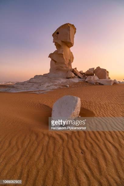 Amazing Landscape Scence at White Desert, Bahariya desert, Egypt