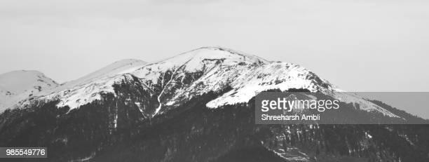 Amazing Monochrome Snow Clad Mountains