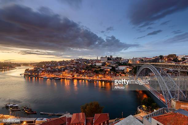 Amazing night landscape of Porto