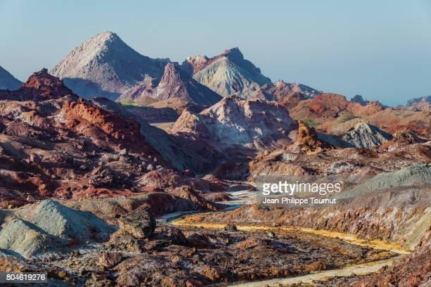 Amazing Rainbow Valley in Hormuz Island, Persian Gulf, Hormozgan Province, Southern Iran