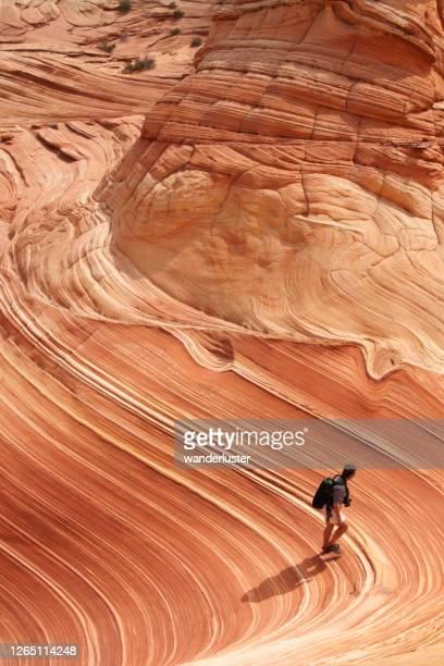 formations rocheuses étonnantes à la vague - utah photos et images de collection