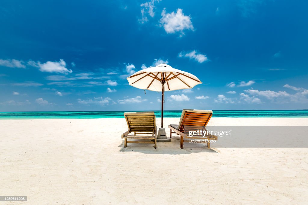 Amazing scenery, relaxing beach, tropical landscape background. Summer vacation travel holiday design. Luxury travel destination concept. Beach nature, travelling tourism banner : ストックフォト
