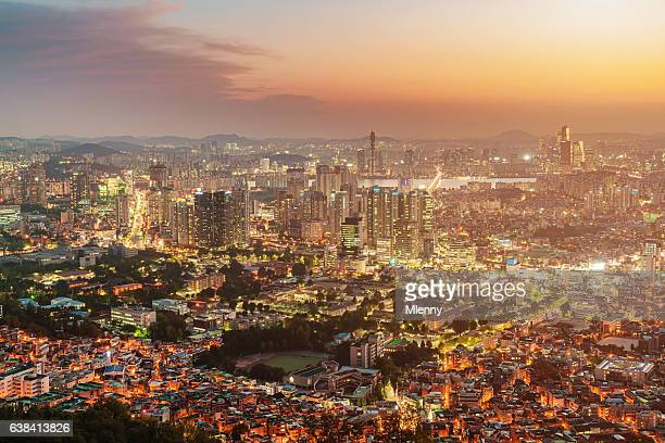 Amazing Seoul Cityscape Sunset South Korea