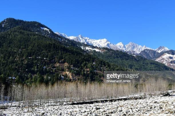 Amazing snow clad landscape of Manali