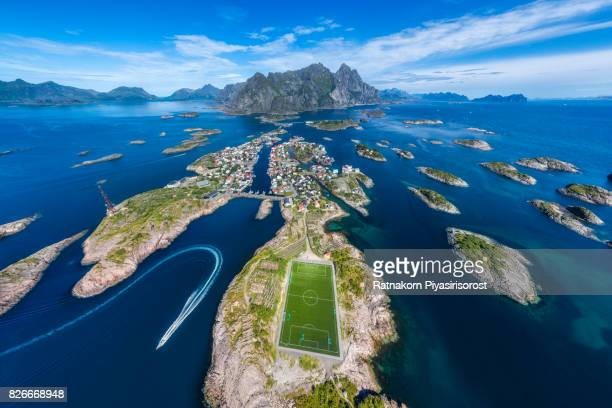 Amazing Soccer Pitch in Lofoten Islands, Norway Henningsvaer Football Pitch - North Of The Arctic Circle