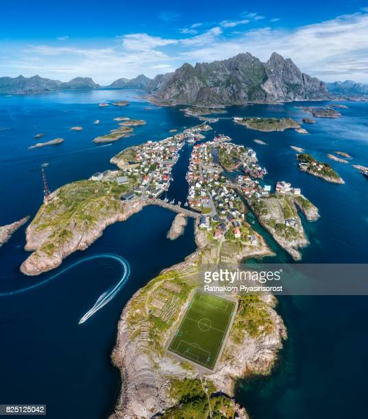 Amazing Soccer Pitch in Lofoten Islands, Norway