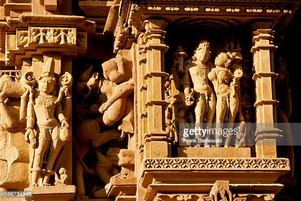 Amazing stonecarvings with scenes from Kamasutra make the Khajurahotemples very special