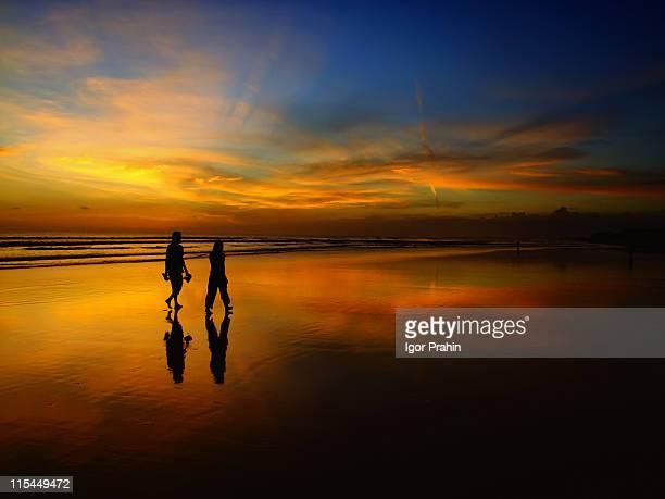 Amazing sunset at Double Six Beach, Bali