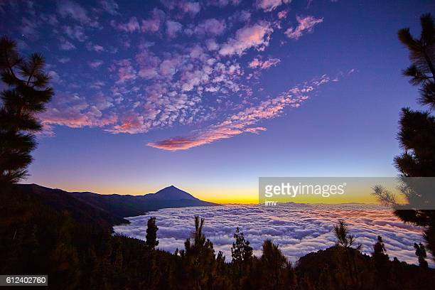 amazing sunset in tenrife - tenerife stock pictures, royalty-free photos & images