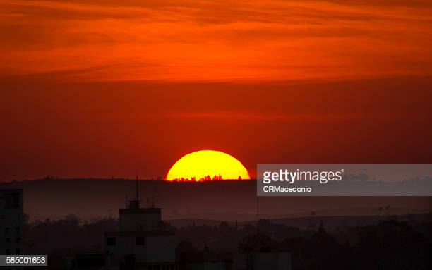 amazing sunset - crmacedonio stockfoto's en -beelden