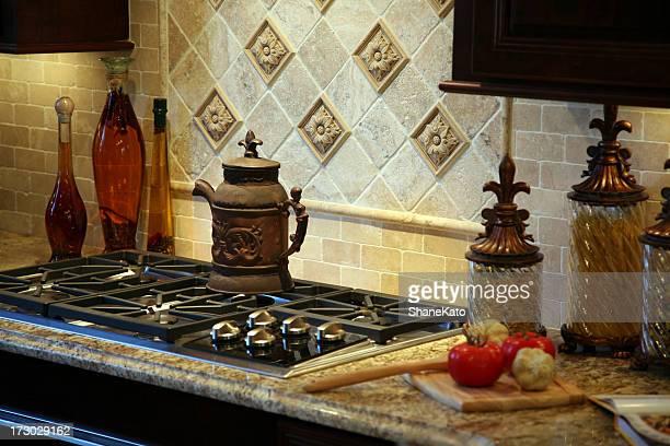 Amazing Tiled Backsplash in Beautiful Custom Kitchen