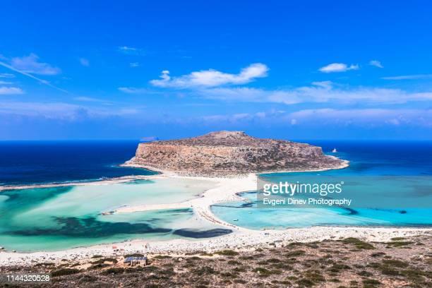 amazing view of crete island sea shore - creta fotografías e imágenes de stock