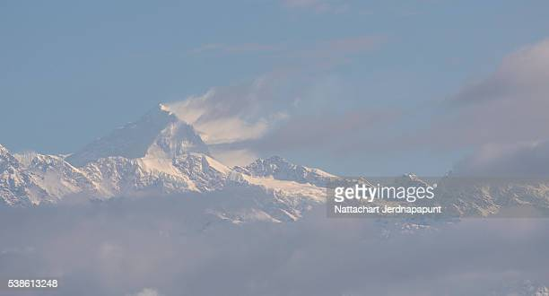 amazing view of nagarkot village, nepal - nepali flag stock pictures, royalty-free photos & images