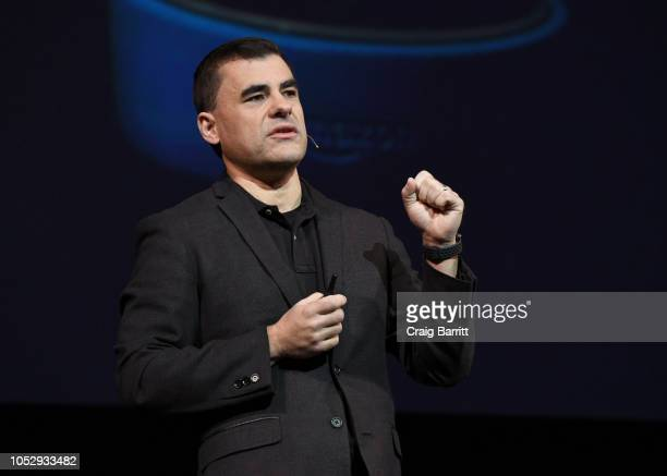 Amazon Alexa Chief Evangelist Dave Isbitski speaks onstage during the Onward18 Conference Day 2 on October 24 2018 in New York City