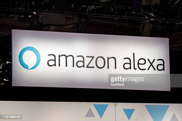 Amazon Alexa logo during the international electronics and innovation fair IFA in Berlin on September 10 2019