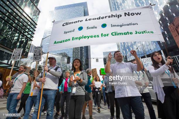 Amazon and other tech employees participate in the Global Climate Strike on September 20 2019 in Seattle WashingtonIn what could be the largest...