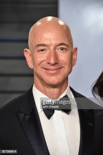 Amazon CEO Jeff Bezos attends the 2018 Vanity Fair Oscar Party hosted by Radhika Jones at Wallis Annenberg Center for the Performing Arts on March 4...