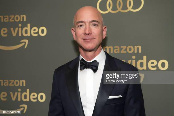 Amazon CEO Jeff Bezos attends the Amazon Prime Video's Golden Globe Awards After Party at The Beverly Hilton Hotel on January 6, 2019 in Beverly...