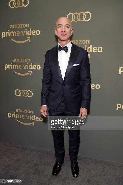 Amazon CEO Jeff Bezos attends the Amazon Prime Video's Golden Globe Awards After Party at The Beverly Hilton Hotel on January 6 2019 in Beverly Hills...