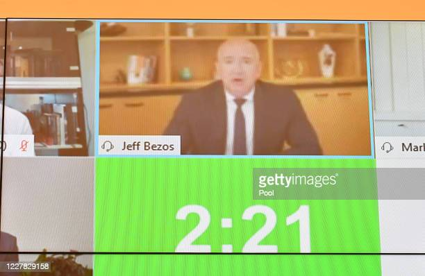 Amazon CEO Jeff Bezos testifies before the House Judiciary Subcommittee on Antitrust, Commercial and Administrative Law on Online Platforms and...