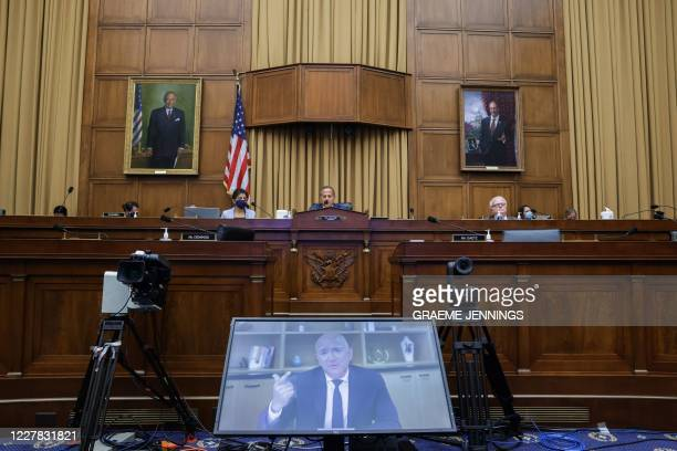 Amazon CEO Jeff Bezos testifies before the House Judiciary Subcommittee on Antitrust Commercial and Administrative Law hearing on Online Platforms...