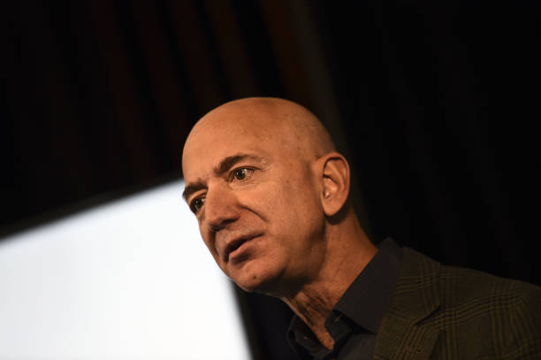 DC: CEO Jeff Bezos Speaks To The Media On Amazon's Sustainability Programs