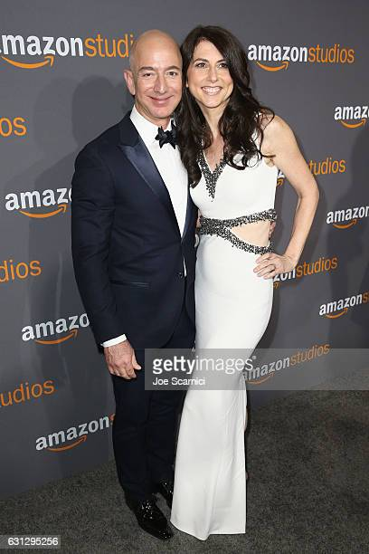 Amazon Founder/CEO Jeff Bezos and MacKenzie Bezos attend Amazon Studios Golden Globes Celebration at The Beverly Hilton Hotel on January 8 2017 in...