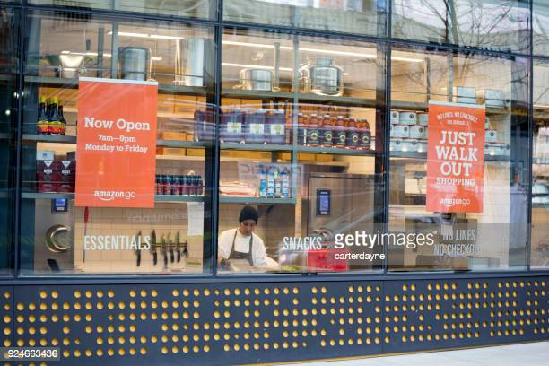 Amazon Go Automated Shopping at Headquarters Building, Seattle Washington USA