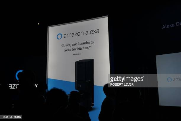 Amazon highlights how its Alexa digital assitant can be integrated into various smart home devices at its exhibit at the Consumer Electronics Show in...