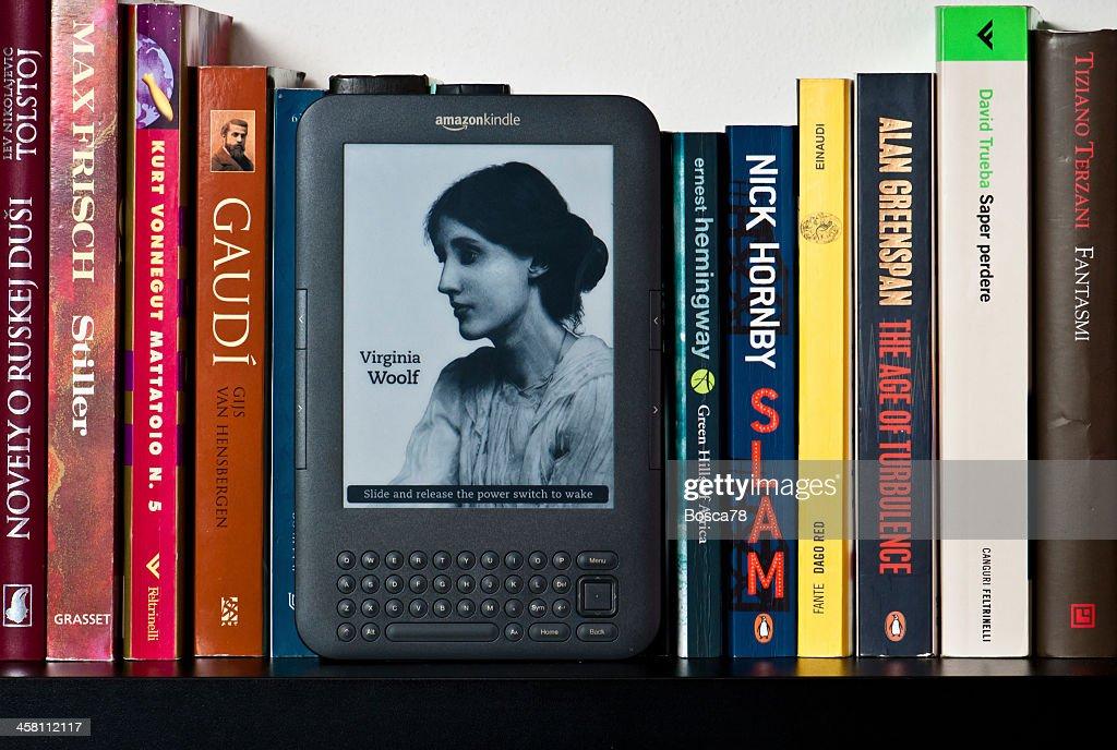 Amazon Kindle ebook device : Stock Photo