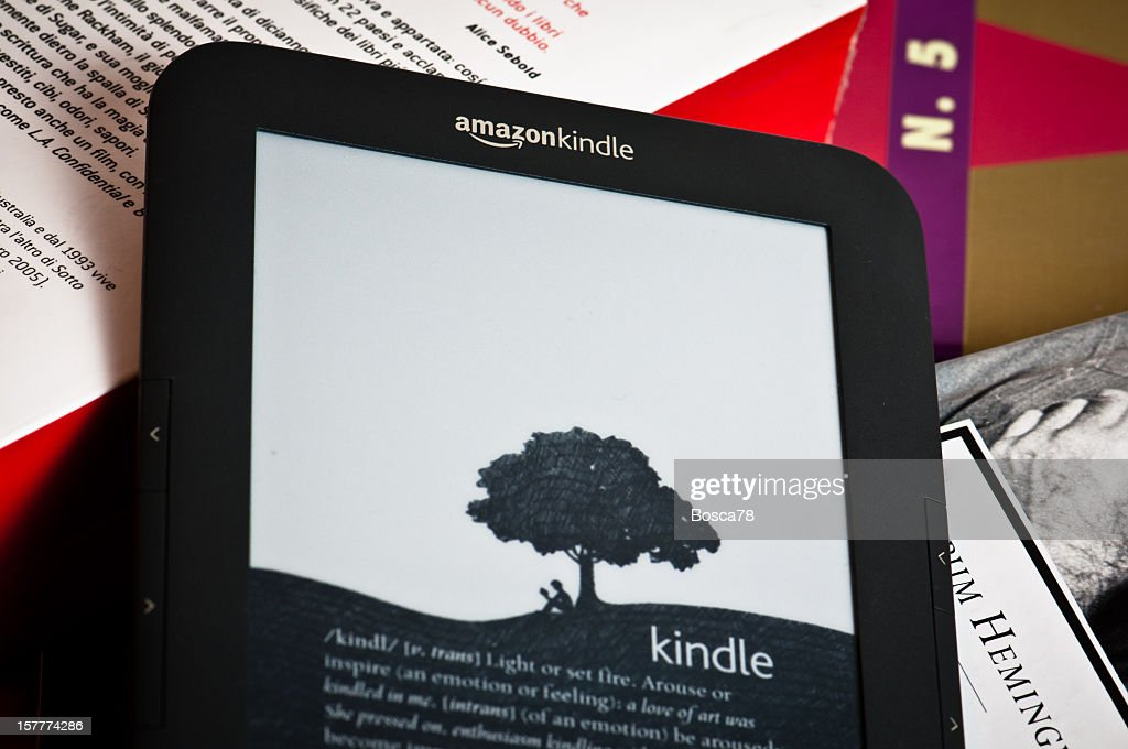 4b5e571adf0e02 Amazon Kindle Reading Device Stock Photo | Getty Images