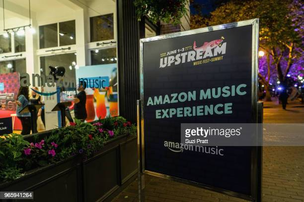 Amazon Music at the Upstream Music Festival in Pioneer Square on June 1 2018 in Seattle Washington