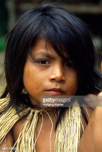 Amazon Peru Yagua Indian Girl Portrait
