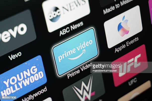 amazon prime video app on apple tv 3rd generation - upload stock pictures, royalty-free photos & images