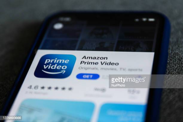 Amazon Prime Video logo is seen displayed on a phone screen in this illustration photo taken in Poland on December 1, 2020.