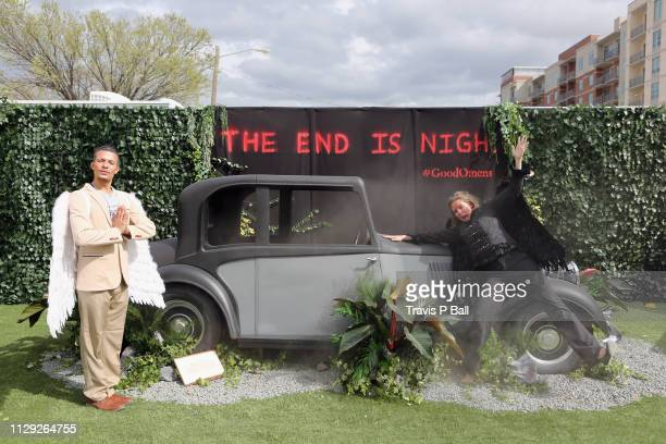 Amazon Prime Video's 'Good Omens Garden of Earthly Delights' activation during the 2019 SXSW Conference and Festivals on March 8 2019 in Austin Texas