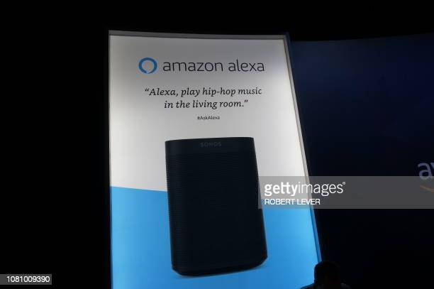 Amazon promoted its Alexapowered speakers and devices in this exhibit at the Consumer Electronics Show January 11 2019 at the Sands Expo Center in...