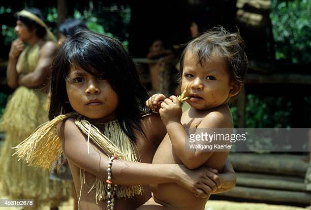 Amazon River Yagua Indian Children