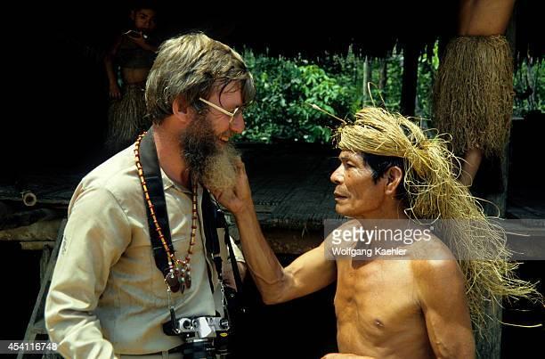 Amazon River Yagua Indian Curiously Admiring Drghillean Prance's Beard