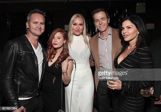 Amazon Studios Head Roy Price Lila Feinberg Lindsey Vonn WME's Patrick Whitesell and Lauren Sanchez attend Jeff Bezos and Matt Damon's Manchester By...