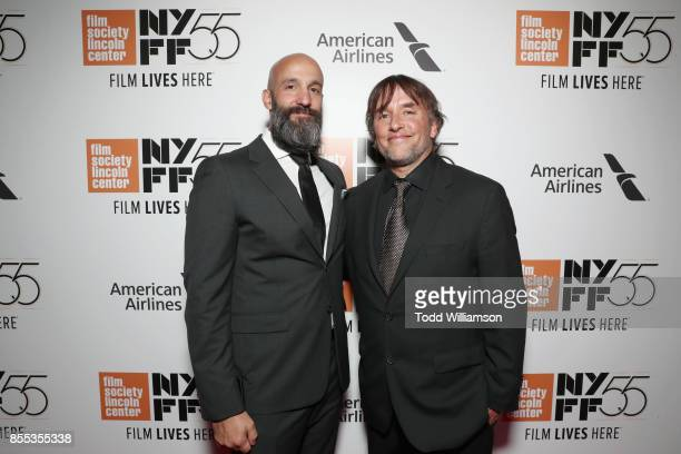 Amazon Studios' Worldwide Head of Motion Pictures Jason Ropell and director Richard Linklater attend the Last Flag Flying NYFF World Premiere on...