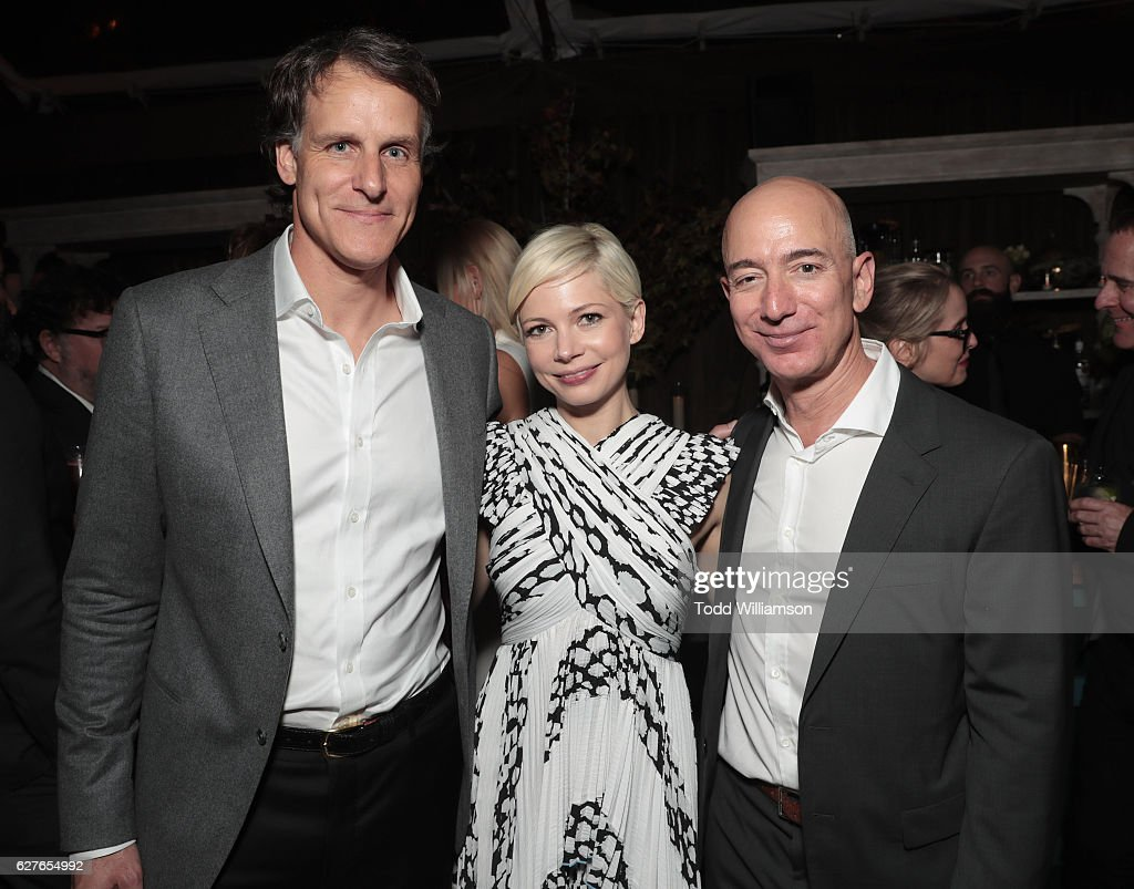 "Jeff Bezos and Matt Damon's ""Manchester By The Sea"" Holiday Party : News Photo"