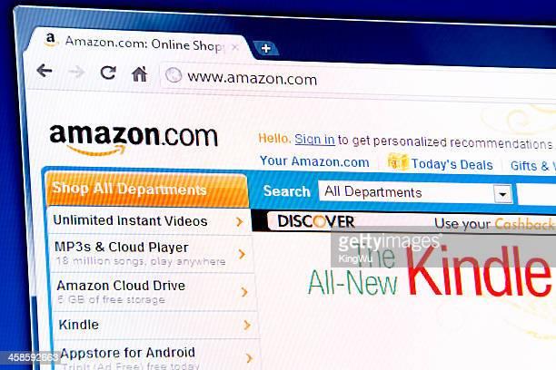 Amazon webpage on browser
