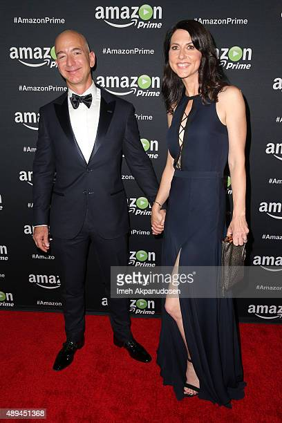 Amazoncom CEO Jeff Bezos and MacKenzie Bezos attend Amazon Video's 67th Primetime Emmy Celebration at The Standard Hotel on September 20 2015 in Los...