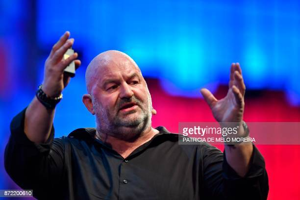 Amazoncom chief technology officer Werner Vogels delivers a speech during the 2017 Web Summit in Lisbon on November 9 2017 Europe's largest tech...