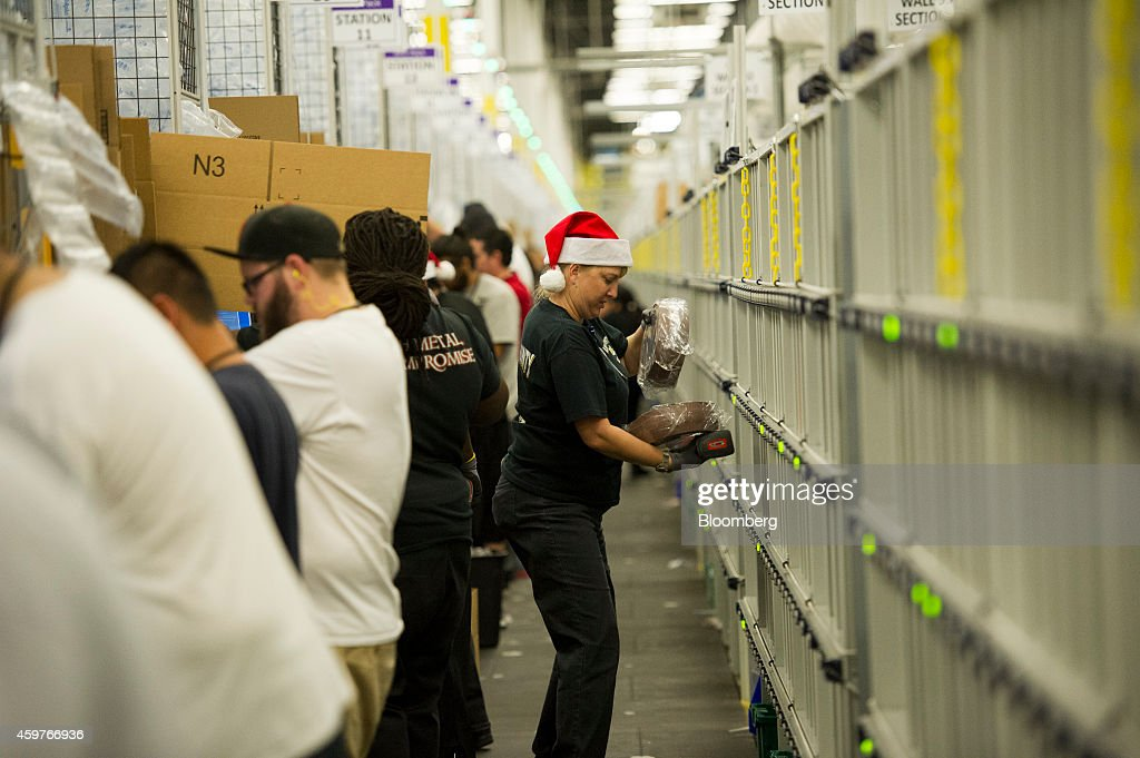 Operations Inside An Amazon.com Inc. Fulfillment Center Ahead Of Cyber Monday : News Photo