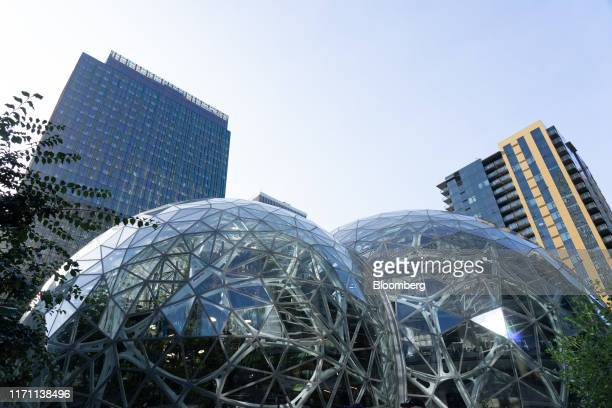 Amazon.com Inc. Spheres stand at the company's headquarters in Seattle, Washington, U.S., on Wednesday, Sept. 25, 2019. Amazon.com Inc.Defended the...