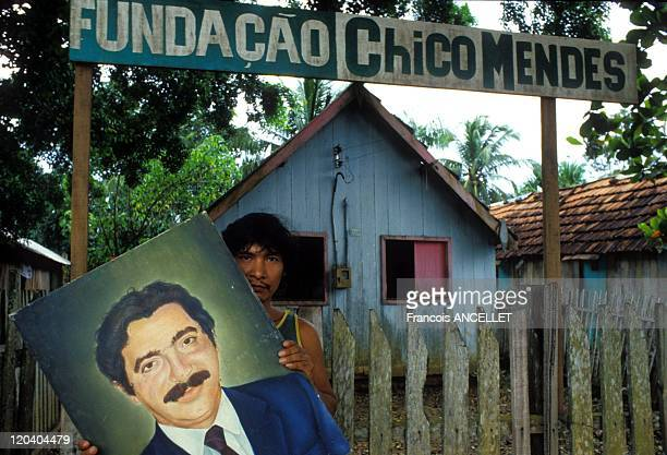 Amazonia Brazil in 1989 After the death of the trade unionist leader and protector of Amazonia Chico Mendes Acre